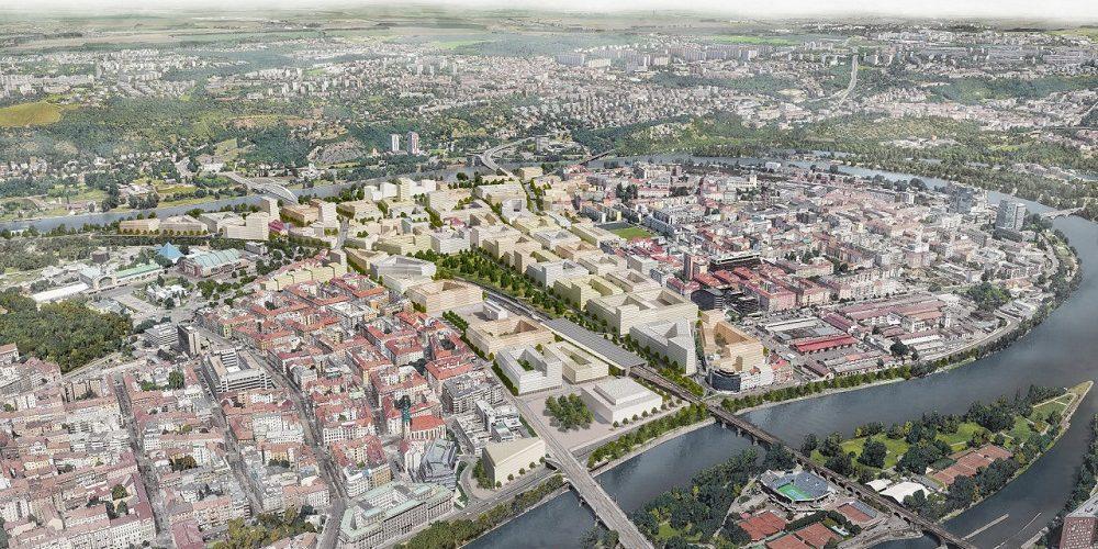 Do nové čtvrti v Bubnech pojede tramvaj, jako první vzniká návrh podjezdu pod tratí